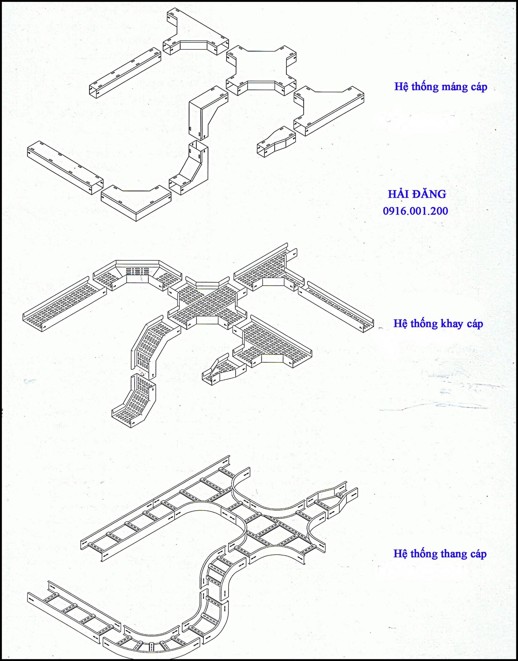 sản xuất thang máng cáp tại tp hcm