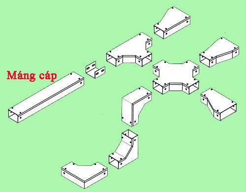 thi công hệ thống thang máng cáp