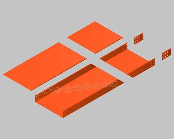 Máng cáp sơn tĩnh điện màu cam