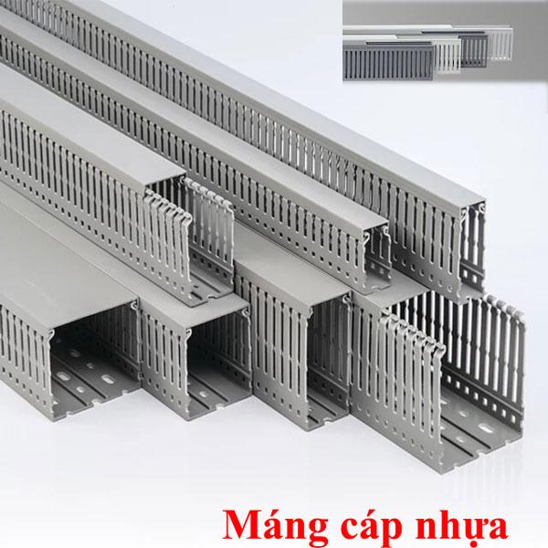 Máng cáp nhựa thích hợp thi công bên trong tủ điện dân dụng hoặc công nghiệp
